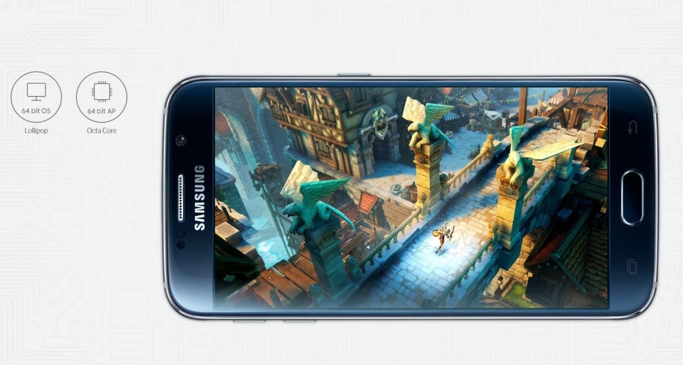 Hiệu năng mạnh mẽ cấu hình khủng giúp Galaxy S6 thỏa sức chơi game nặng